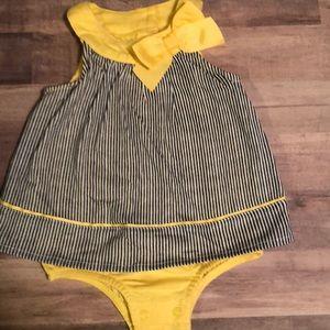 Girls dress with attached bloomers. Size 3 mo